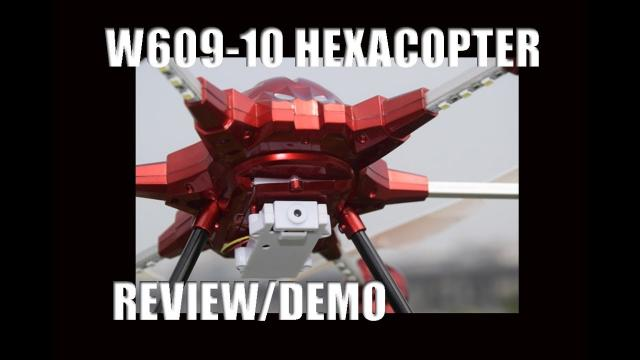 W609-10 HEXACOPTER DRONE - Fun Beginner Drone - REVIEW/DEMO