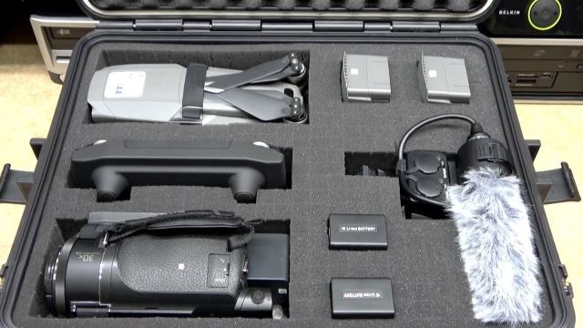 Waterproof Hard Case with Pre cut Cubed Foam Insert for Your Drone & Camera Gear
