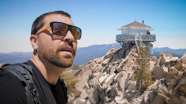 Mountain Biking ALONE to find the Butler Peak Fire Lookout