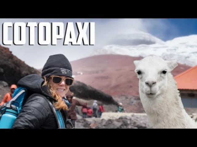 Climbing an active Volcano, COTOPAXI Ecuador and riding a mountain bike down it!!