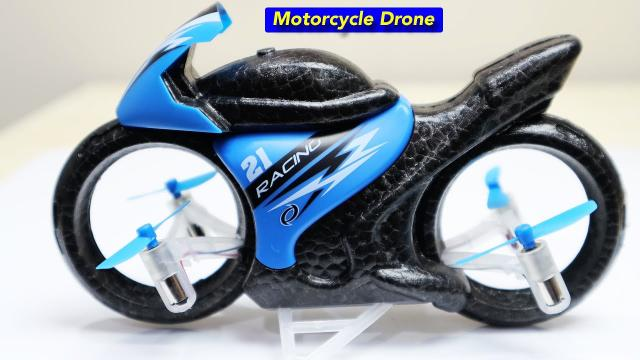 Very Cool Motorcycle Flying Drone - The Eachine E021 - Review