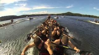 2013 Canadian National Dragon Boat Championships Race 171 Premier Open 200m Final GOPRO
