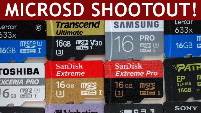MicroSD Card Speed Test | SanDisk vs. Samsung vs. Transcend vs. Toshiba