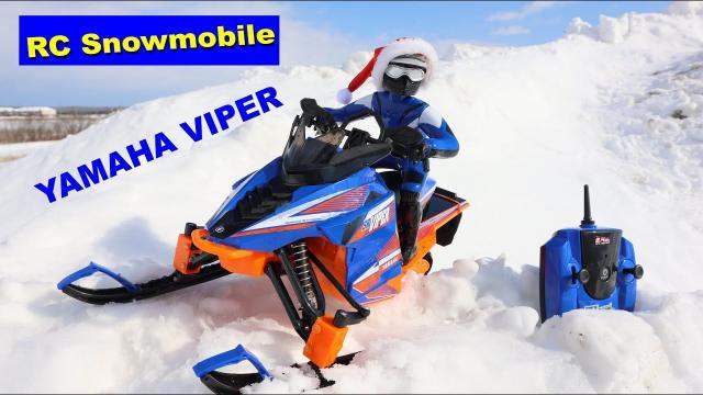 RC Snowmobile - Yamaha Viper on snow - Review - TopMaz Racing