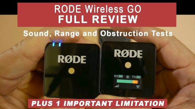 Rode Wireless GO - FULL REVIEW - Sound, Range & Obstruction Tests PLUS 1 Important Limitation