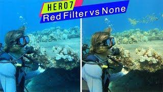 GoPro Hero7 Black: Red Filter VS None UnderWater Comparison - GoPro Tip #638