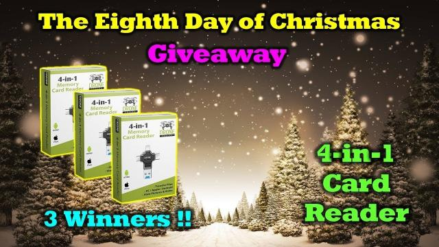 Free Drone Valley 4-in-1 Memory Card Reader - 12 Days of Drone Valley Christmas Giveaways 2019