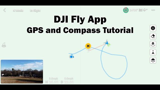 DJI Fly App - GPS and Compass Tutorial - Mavic Mini, Mini 2, Mavic Air 2