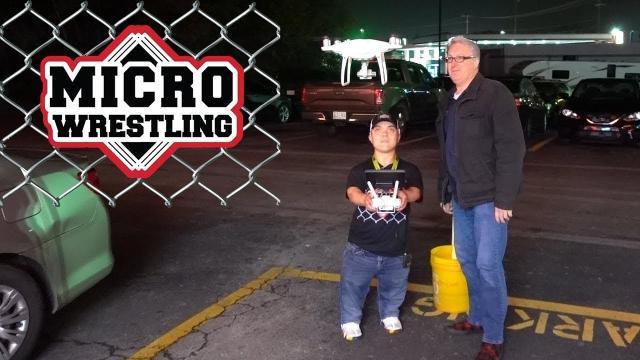 MICRO Wrestler flies my Drone - KEN HERON