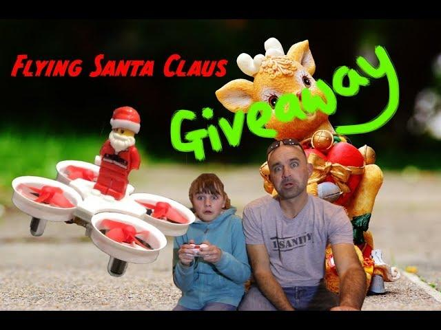 Flying Santa Claus drone review & GIVEAWAY!!