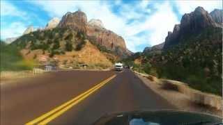 Zion National Park Drive Through 1080p HD GoPro Time-Lapse