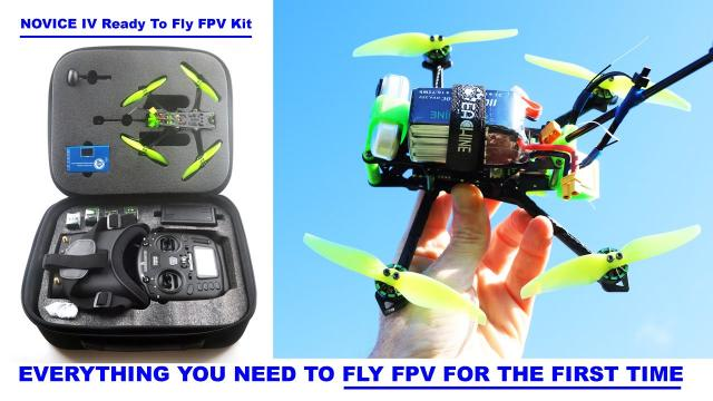 Wanna Fly FPV Drones?  The new EACHINE NOVICE IV is a PRO Ready To Fly All In One Kit