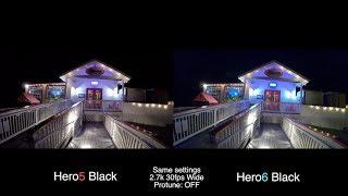 0507 GoPro Hero6 Vs Hero5 LOW LIGHT Test COMPARISON