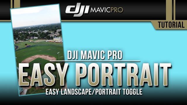 DJI Mavic Pro / EASY Landcape/Portrait Mode Toggle (Tutorial)