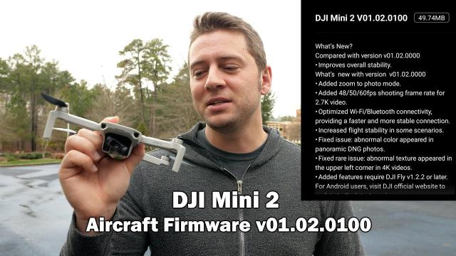 New Frame Rates and Zoom/Compass Options! Dji Mini 2 Firmware v01.02.0100