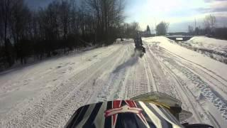 GoPro 3+: First Ride With The GoPro - Skidoo Renegade 550f - HD