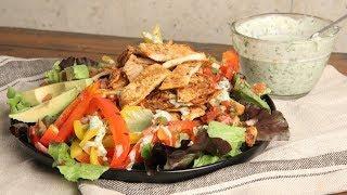 Chicken Fajita Salad with Creamy Cilantro Dressing | Ep. 1280