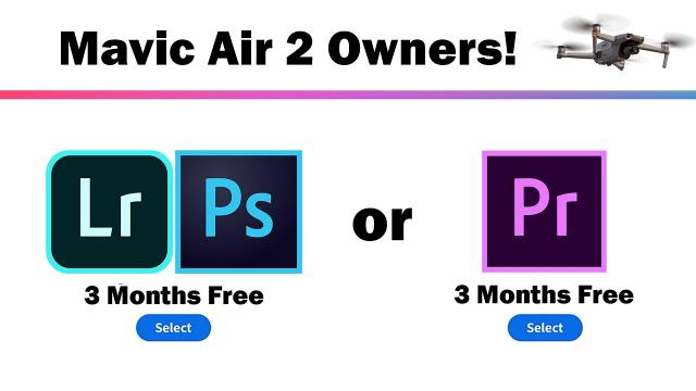 Mavic Air 2 Owners!! 3 Months Free Premiere Pro or Photoshop With DJI Fly App v1.2.4