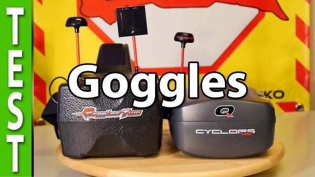 Quanum Cyclops v2 vs  Eachine goggles two FPV goggles compared