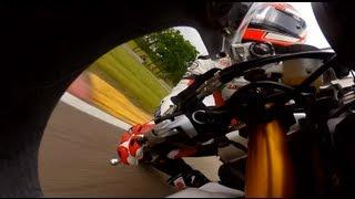 GoPro HD: Dustin Dominguez Crashes at Road America - AMA Pro Road Racing 2012