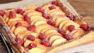 Super Simple Raspberry & Peach Tart   Ep. 1266