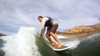 Wake Surfing Behind Centurion Air Warrior Wake Board Boat GoPro HD Hero