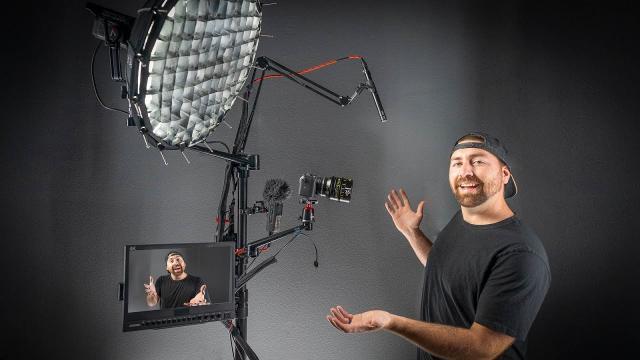 Complete YouTube Studio Setup On ONE STAND