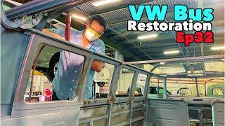 VW Bus Restoration - Episode 32 - Roof Issues | MicBergsma