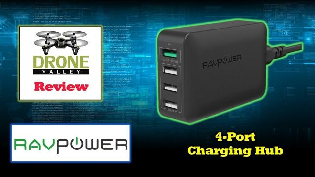 RavPower 4-Port Quick Charge USB Charger - Smart and Powerful!