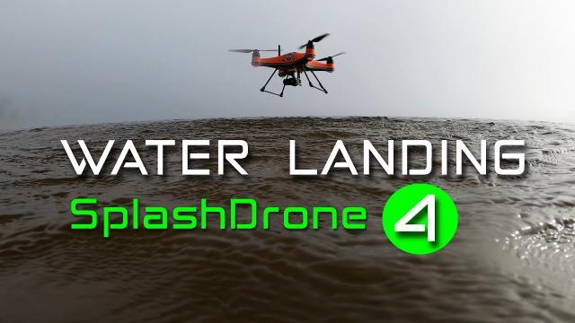 The new Waterproof Drone - SplashDrone 4 Landing in Water (PART 4)