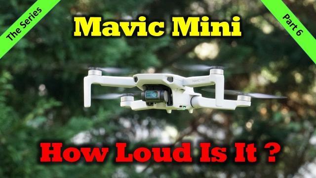 How Loud is the Mavic Mini when Flying?