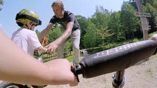 GoPro: Aaron Chase Teaches Mountain Biking to Toddlers