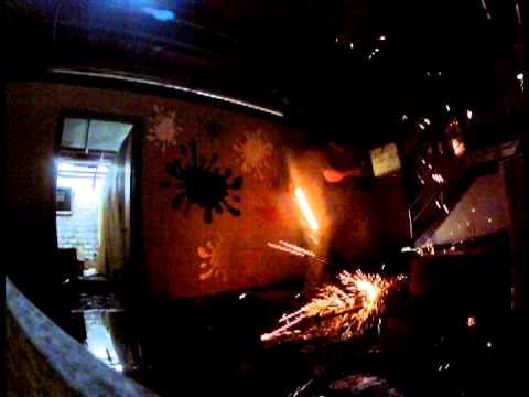 Steel Wool Spinning - Light Painting - Gopro Attached To The Whisk - Hero2 - Hero3
