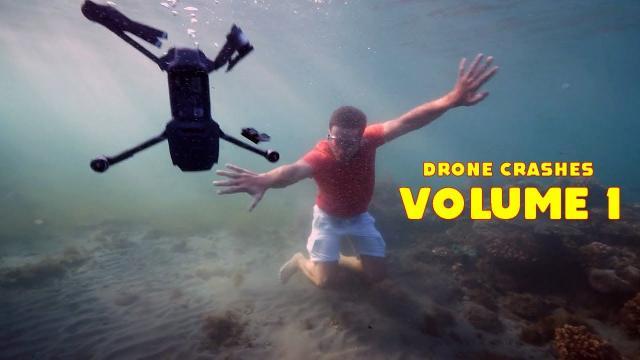 Drone Crash Compilation - VOL.  1