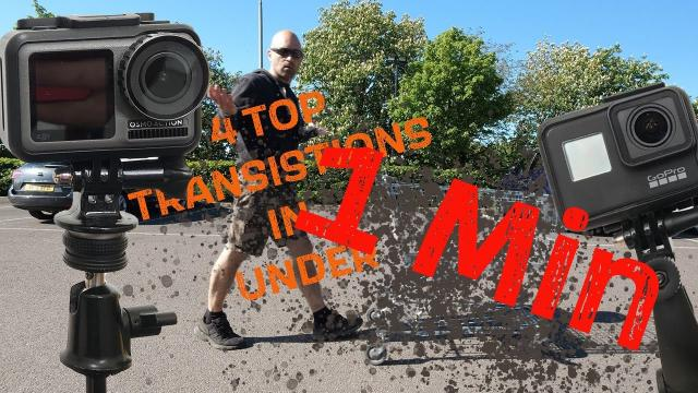4 Top DJI Osmo Action & Gopro Transitions in Under a Minute
