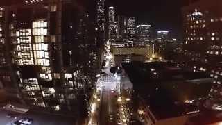 GoPro 4: 1st GoPro Hero 4 Black Night Aerial Shot At 960X720 HD @ 23.98 Of Downtown Los Angeles!