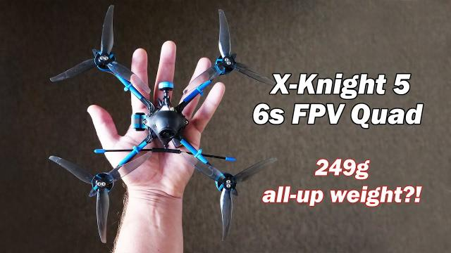 """The lightest 6s 5"""" FPV quad in the world? - X-Knight 5 by BetaFPV"""
