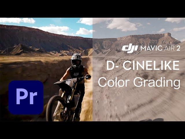 Mavic Air 2|How to COLOR GRADE D-Cinelike footage in Adobe Premiere PRO
