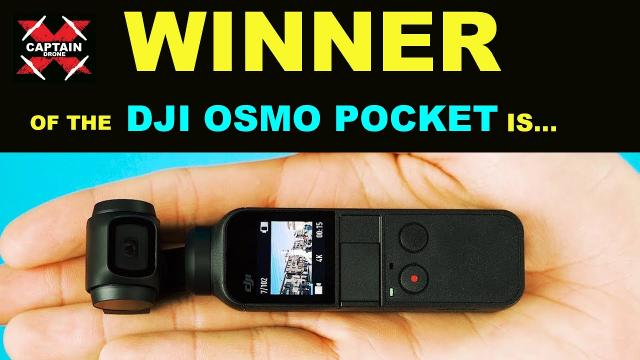 The WINNER of the DJI OSMO POCKET & EXPANSION PACK is...  Thank you to DJI!