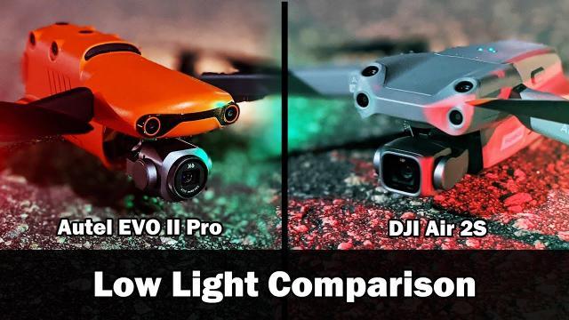 Low Light Comparison: Autel EVO II Pro 6k vs DJI Air 2S