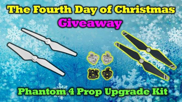 The Fourth Day of Drone Christmas Giveaway! - Phantom 4 Prop Upgrade Kit!