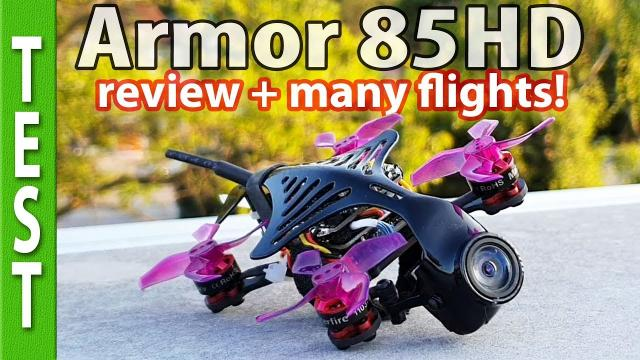 Makerfire Armor85HD review and many flights