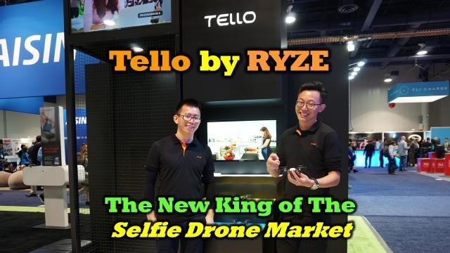 The New Tello Drone by Ryze - A Game Changer - CES 2018 First Look