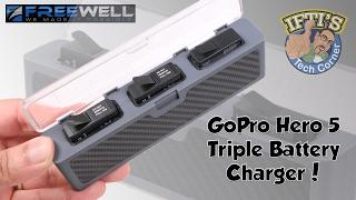 Freewell  - Portable GoPro Hero 5 Triple Charger! : REVIEW