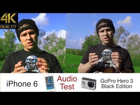 GoPro Tip #132 IPhone 6 Vs. GoPro Microphone Test (4K)