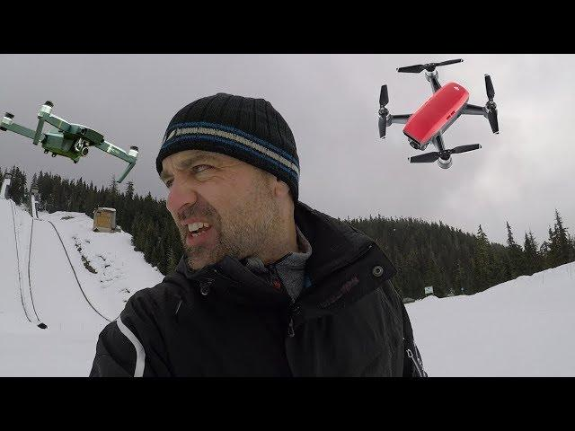 How to shoot Video with a Drone in Snow //#MAIL-38