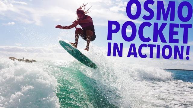 DJI OSMO POCKET IN ACTION! PRO WAKESURFER!