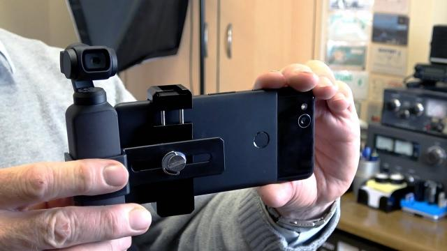 DJI Osmo Pocket Extension Mount Bracket with Phone Clip