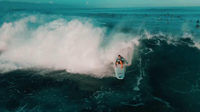 Pipeline, Oahu Filming with DJI Mavic Air 2 4K 60FPS SLOW MO!