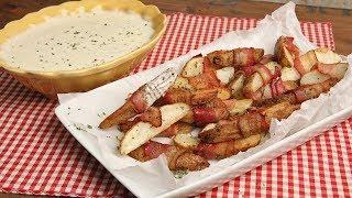 Bacon Wrapped Potatoes with Queso Blanco Dip | Ep. 1309